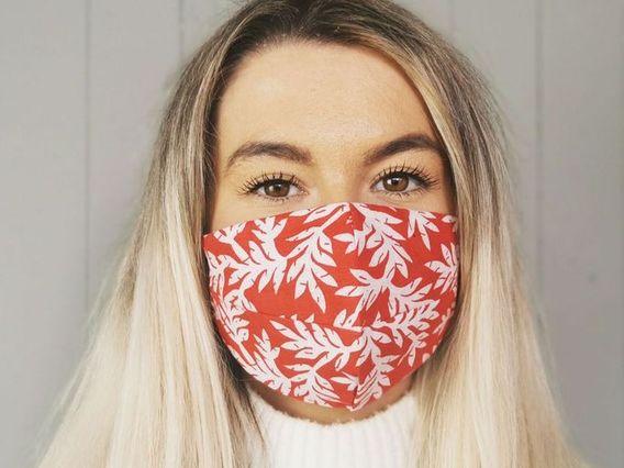 Red Leaf Face Mask