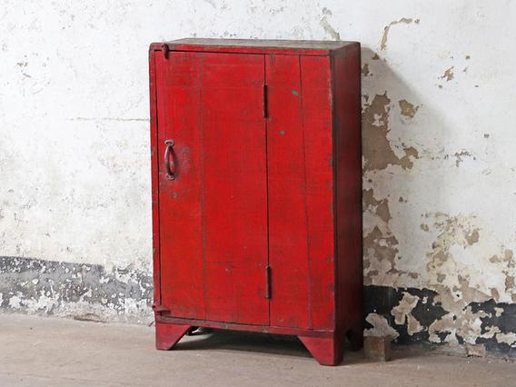 Rustic Vintage Red Cabinet