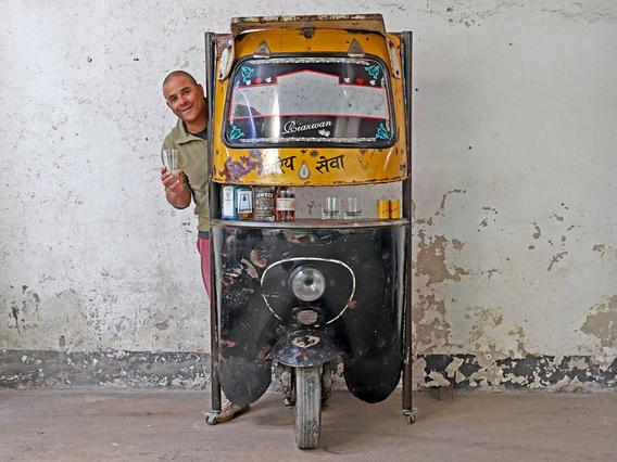 Upcycled Rickshaw (Tuk Tuk) Bar
