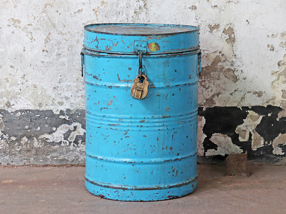 View our  Blue Metal Storage Drum  from the   collection