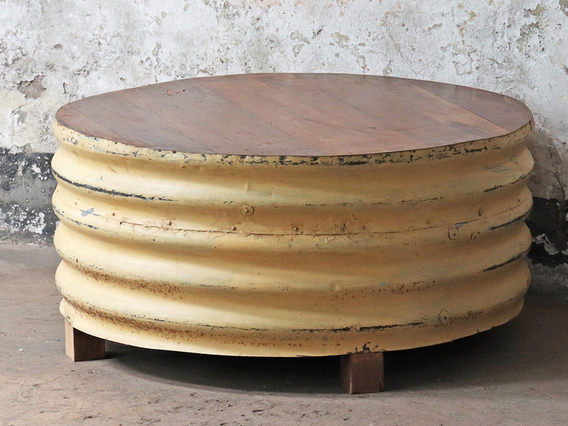 Upcycled Coffee Table - Yellow