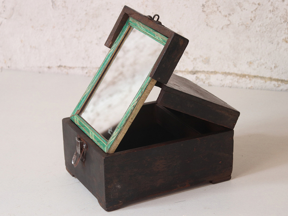 Rustic Barber's Shaving Box
