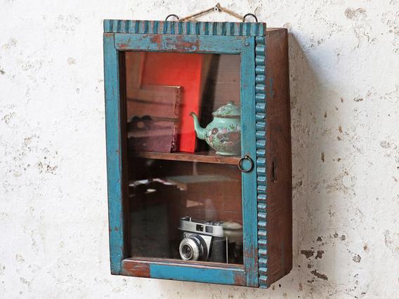 Rustic Blue Cabinet