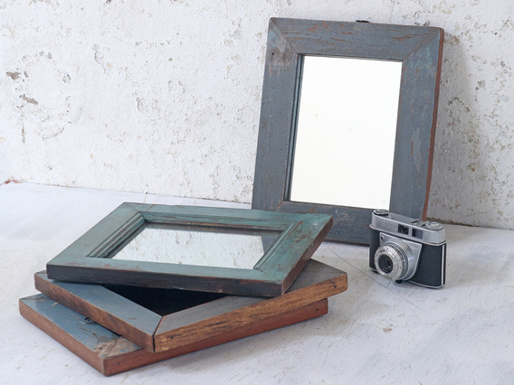 View our  Rustic Blue Mirror from the  Storage Chests collection