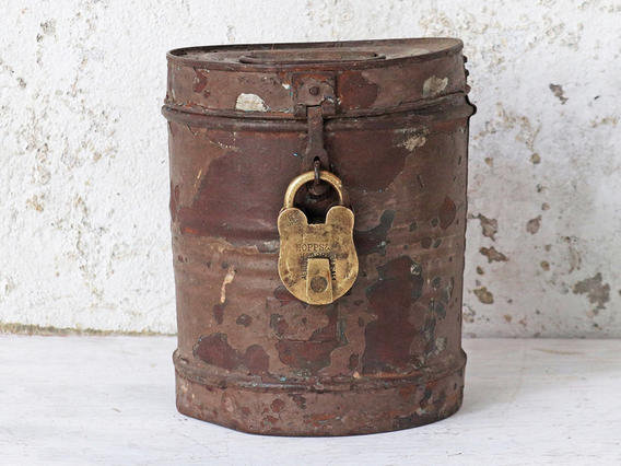 View our  Rustic Metal Storage Tin from the  Hallway collection