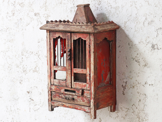 View our  Rustic Red Cabinet from the  Sold collection