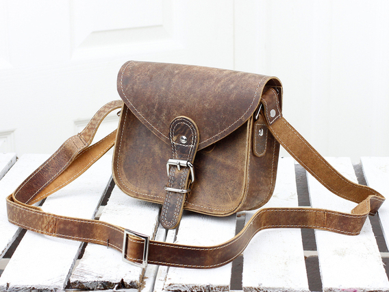 7 Inch Leather Saddle Bag