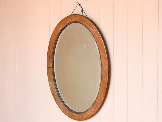 View our  Antique Oak Oval Mirror from the   collection