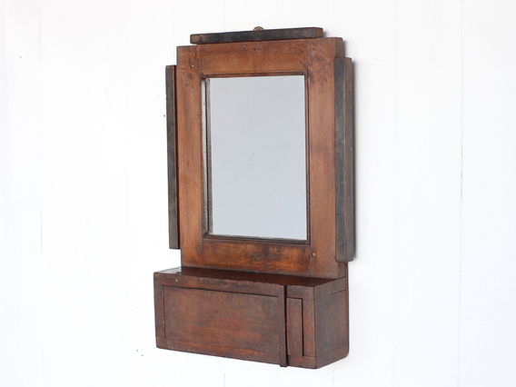 View our  Art Deco Bathroom Mirror from the  Wooden Mirrors collection