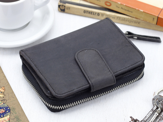 Black Leather Purse 4