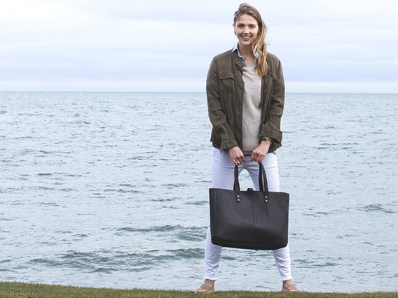 View our  Black Leather Shopper Tote Bag from the  Sold collection