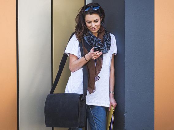 Black Messenger Bag 15 Inch