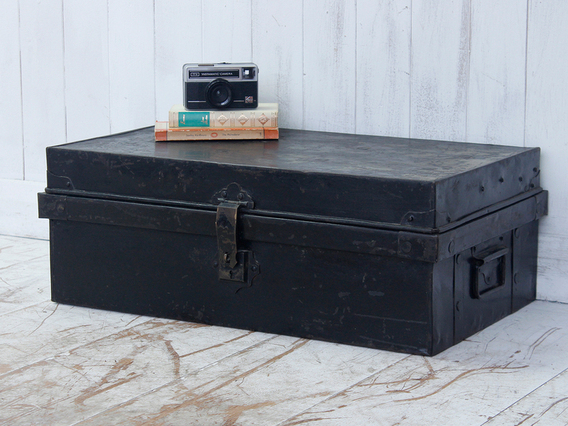 View our  Metal Storage Trunk from the  Old Travel Trunks collection