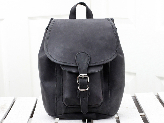 View our Men Black Mini Leather Backpack from the Men Leather Backpacks collection