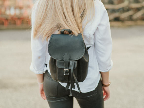 View our  Black Mini Boho Leather Backpack from the  Leather Satchels & Bags collection