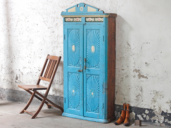 View our  Blue Antique Armoire from the   collection