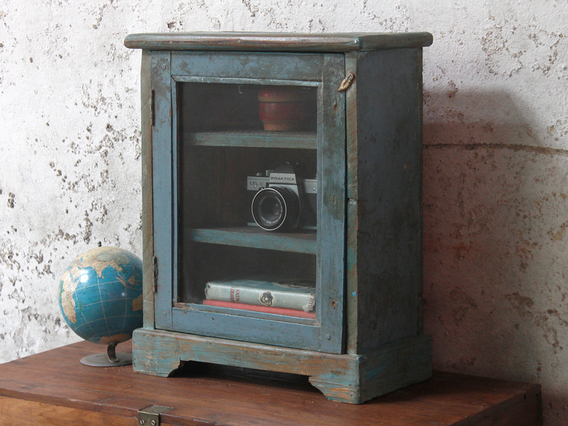 View our  Blue Wall Display Cabinet from the  Vintage Cabinets & Cupboards collection