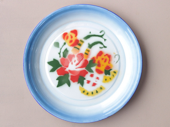 View our Women Blue Floral Enamel Plate from the Women Sold collection