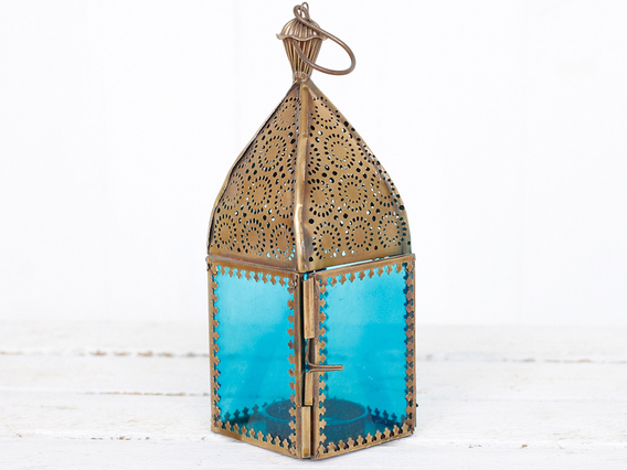 View our Women Blue Glass Lantern from the Women Sold collection