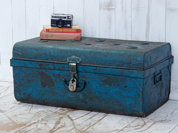 View our  Blue Metal Trunk from the   collection