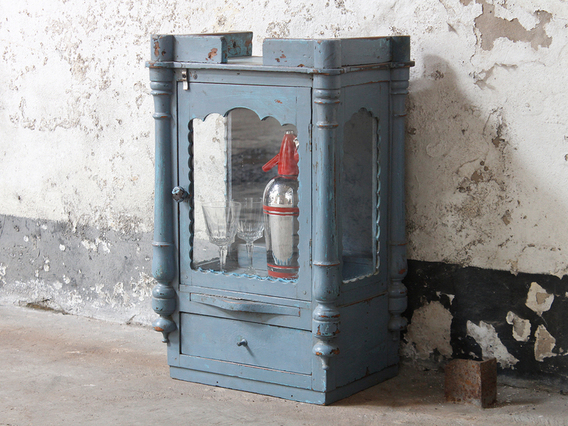 View our  Antique Blue Temple Cabinet from the  For The Home collection