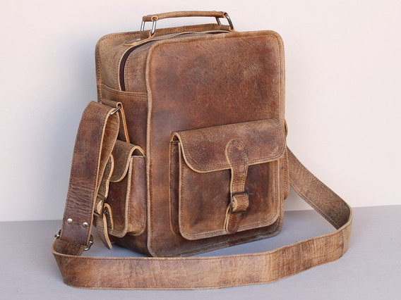 6ac337fb2a Boys And Girls Small Vintage Leather Flight Bag - Sold - Scaramanga