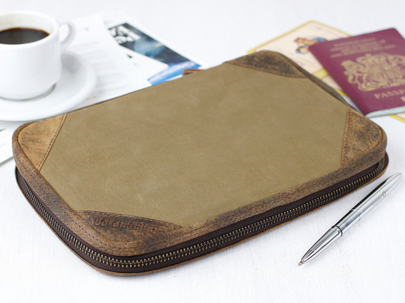Canvas Travel Document Holder