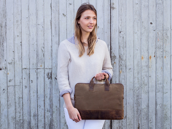 View our  Slim Laptop Bag from the  Leather Satchels & Bags collection