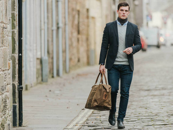 View our  Canvas Holdall For Men from the  Leather Weekender Bags collection