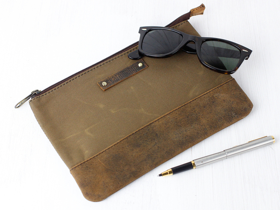 Canvas & Leather Pouch