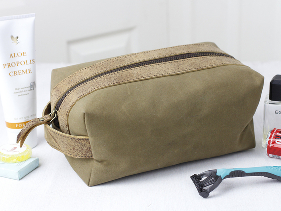 View our Women Leather and Canvas Wash Bag from the Women Sold collection