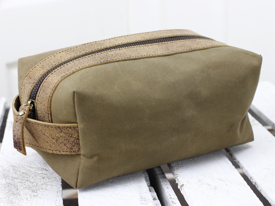 View our  Leather and Canvas Wash Bag from the  Travel Accessories collection