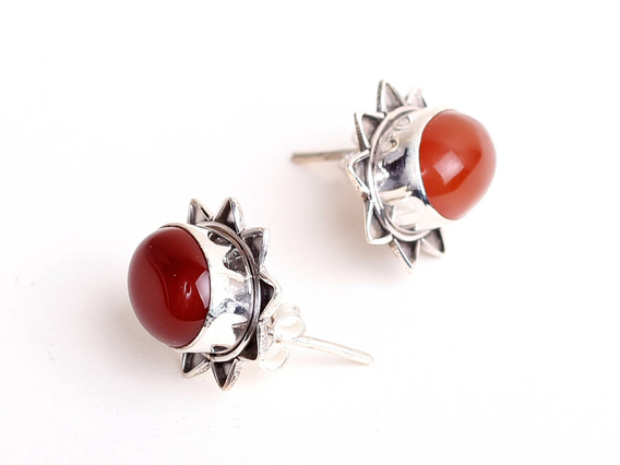 View our  Carnelian Starburst Earrings from the   collection