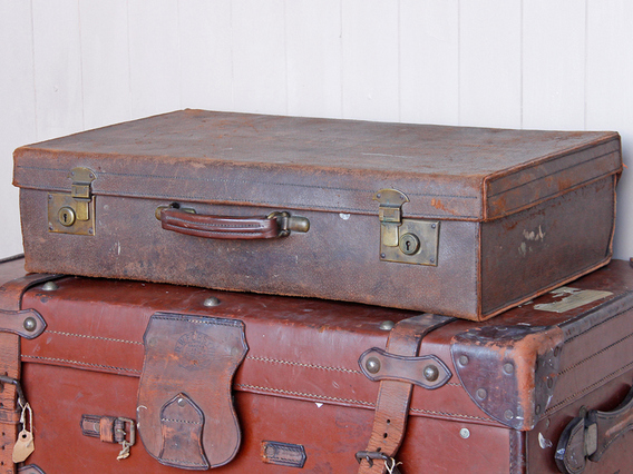 View our  Classic Leather Suitcase from the   collection