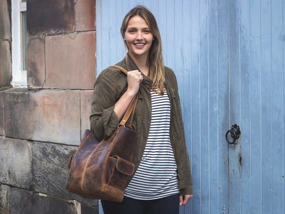 View our  Classic Leather Tote Bag from the  Leather Satchels & Bags collection