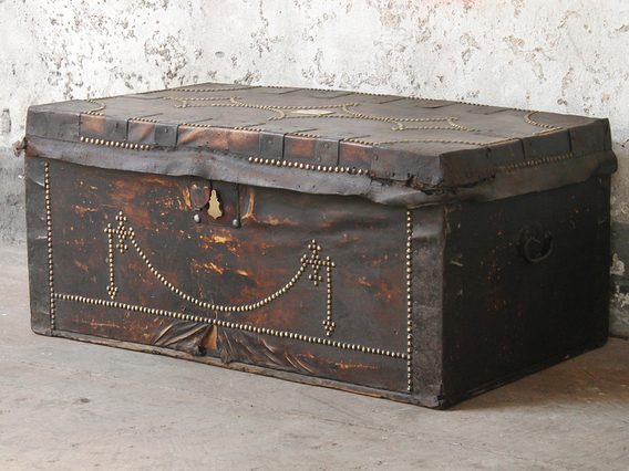 View our  Leather Travel Trunk from the   collection