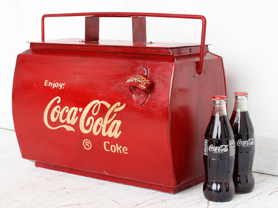 View our  Coca-Cola Coolbox from the  Old Travel Trunks collection