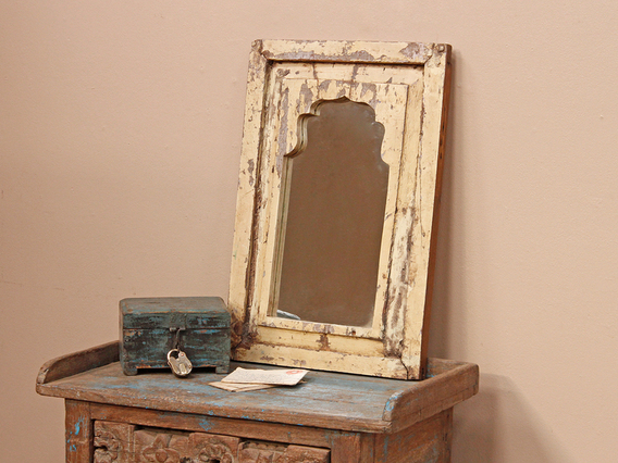 View our  Old Cream Framed Mirror from the  Bedroom Furniture collection