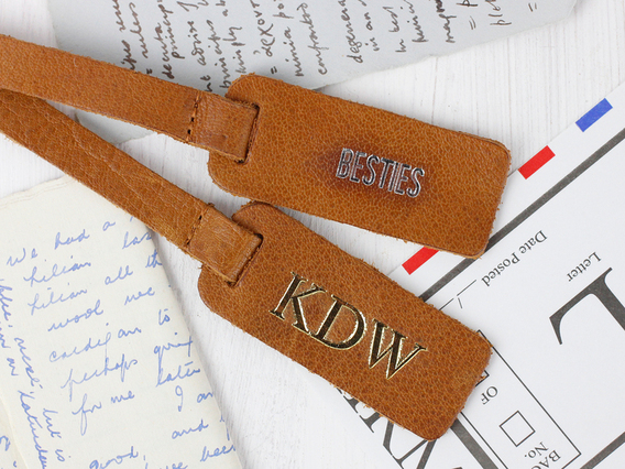 View our  Customisable Bag Tag - Antique Leather  from the  Travel Accessories collection