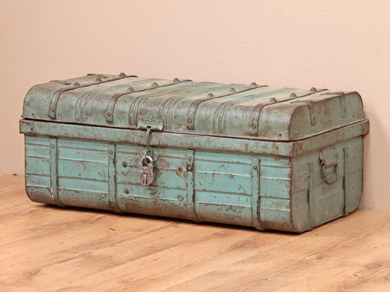 View our  Vintage Blue Metal Trunk from the   collection