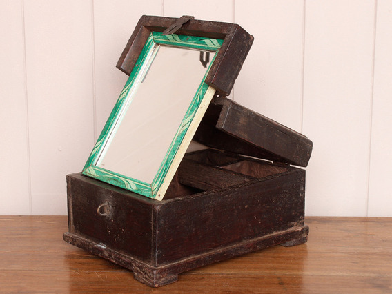 Folding Mirror Barber's Box