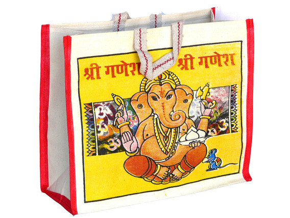Ganesh Canvas Bag Short Handles