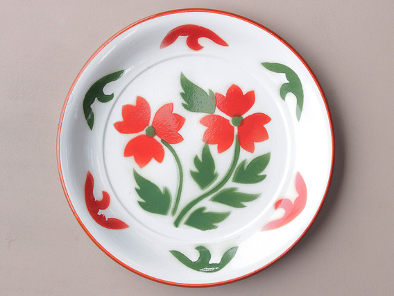 View our Women Large Green Floral Enamel Plate from the Women Sold collection