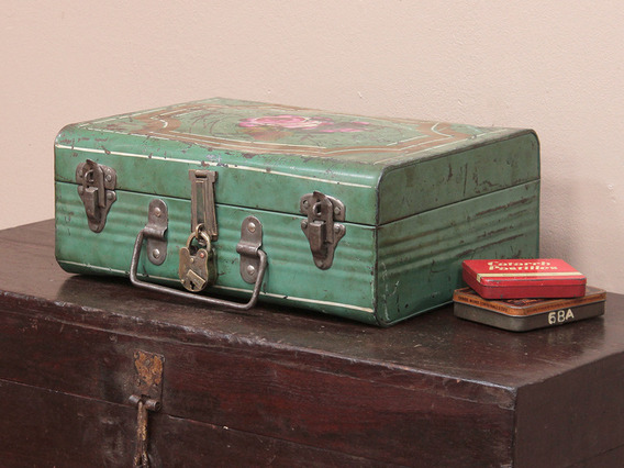 View our  Green Metal Suitcase from the   collection