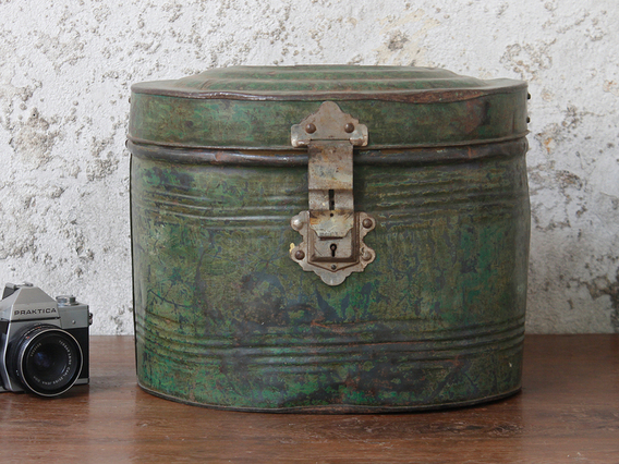 View our  Vintage Green Hat Box from the   collection