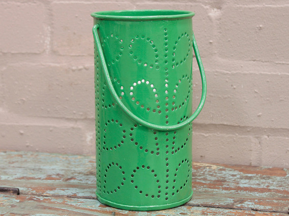 View our  Green Painted Lantern from the  Vintage Art  collection