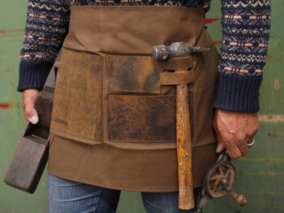 View our  Half Leather and Canvas Apron from the  Accessories collection