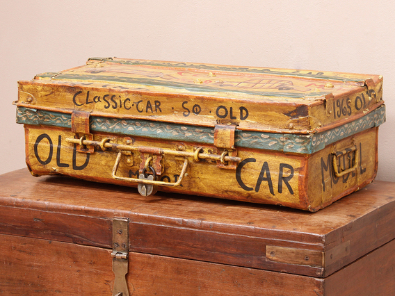 View our  Old Hand-Painted Metal Suitcase from the   collection