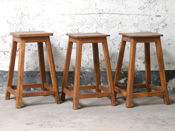 View our  Old Wooden Stool from the  Old Chairs, Stools & Benches collection