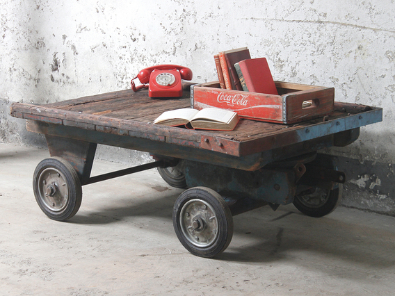 View our  Industrial Trolley Coffee Table from the  Vintage Tables & Desks collection